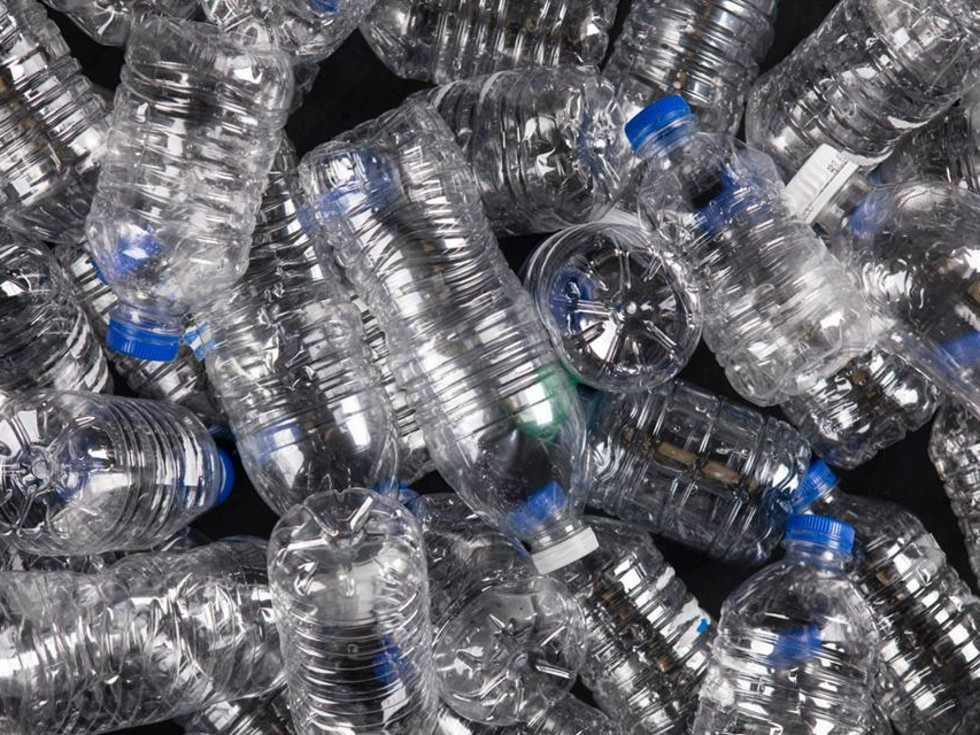 Water bottles recycling