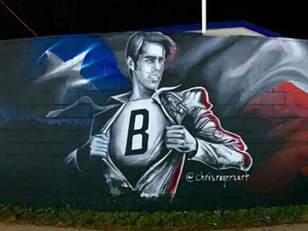 Beto O'Rourke mural East Austin