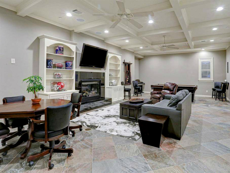 Tom Herman home for sale game room