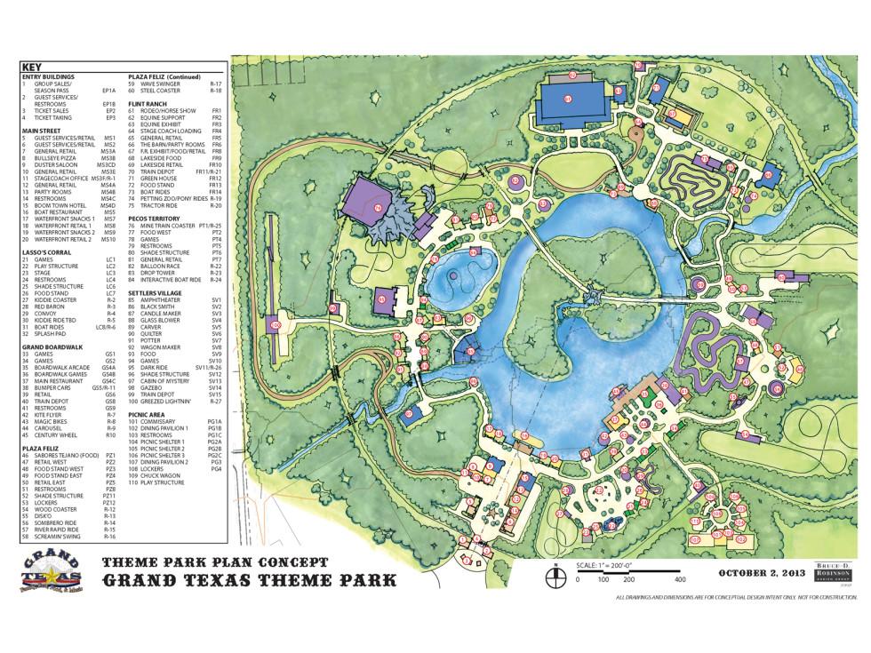 Grand Texas plans November 2013 map