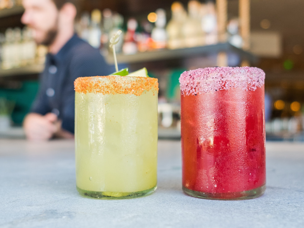 Blanco tacos and tequila cocktails