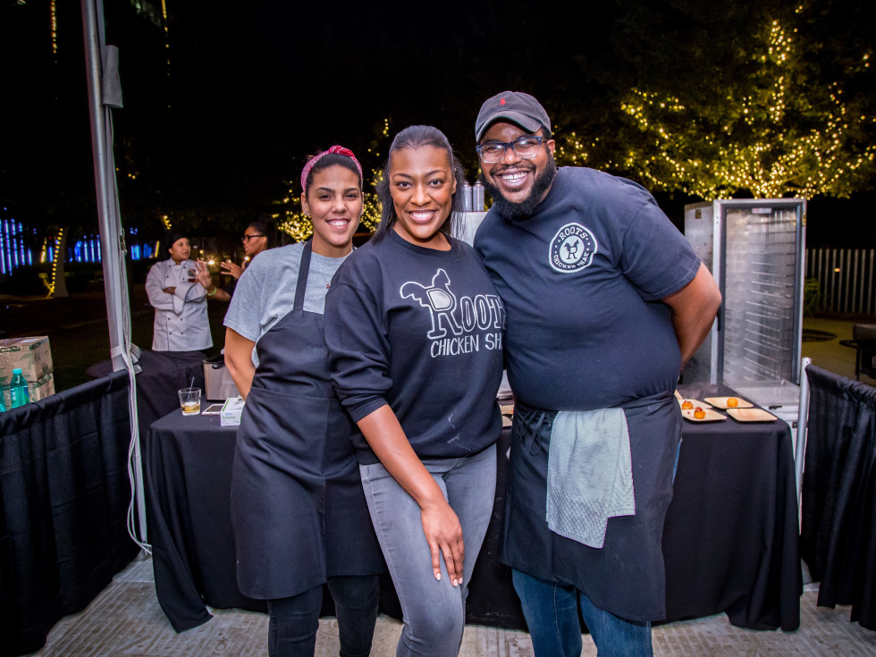 Chef Tiffany Derry of Roots Chicken Shak and staff, Park & Palate