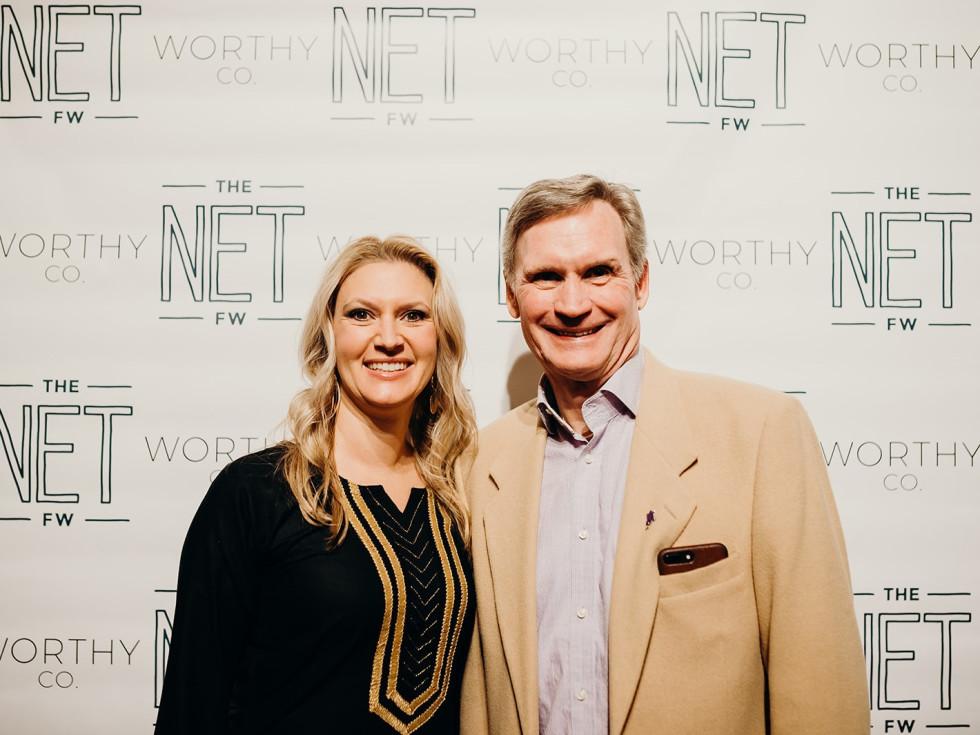 Vanessa Bouche and Brad Hancock