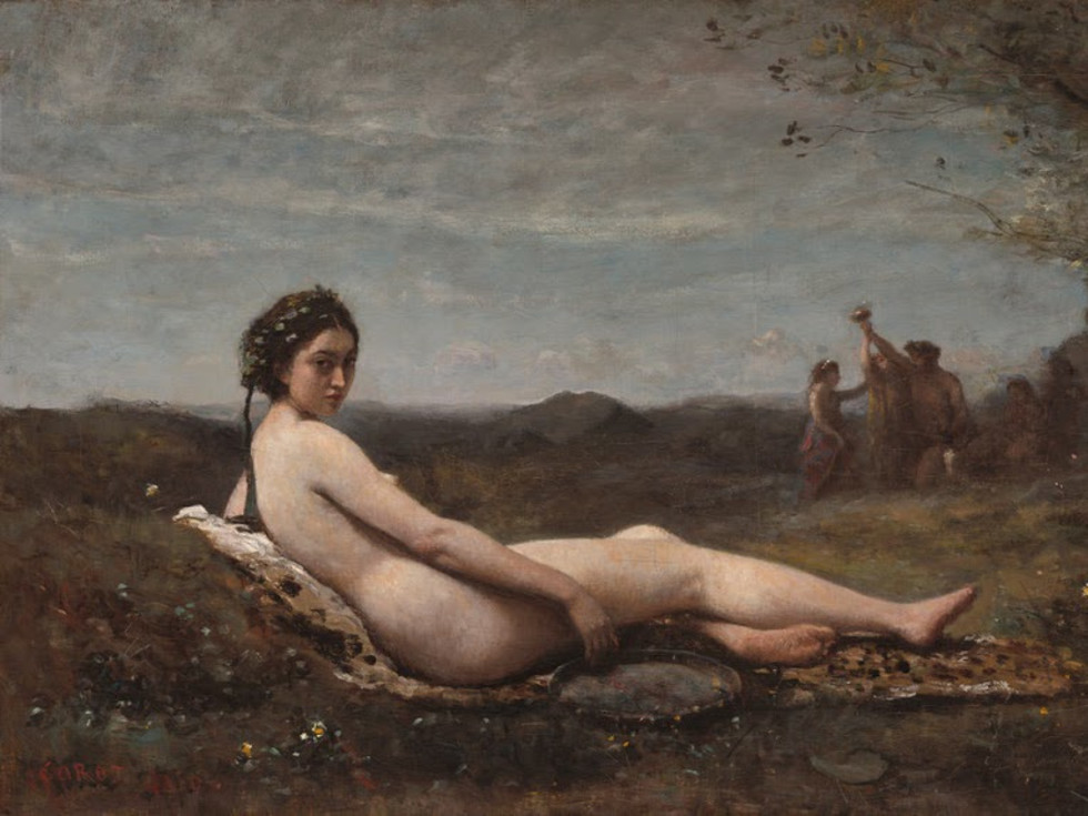 Camille Corot, The Repose, 1860, reworked c. 1865/1870, Oil on canvas