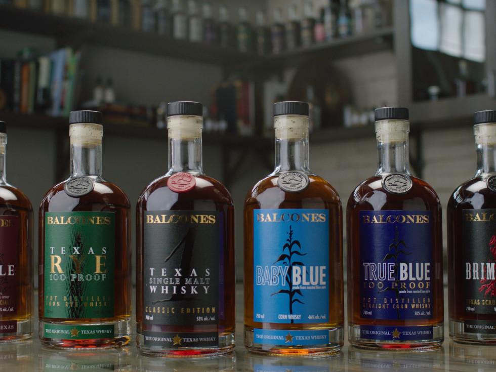 Balcones whiskey bottles