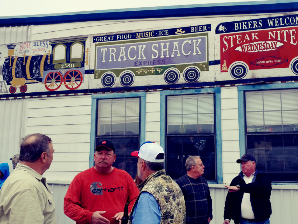 President Bush train 4141 procession Spring Track Shack