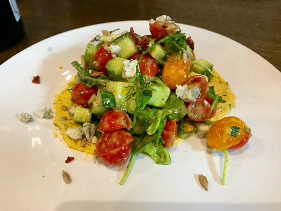 Elliot's Table cucumber tomato salad