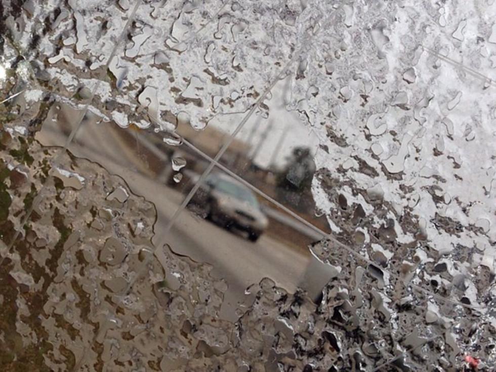 snow Houston ice car windshield