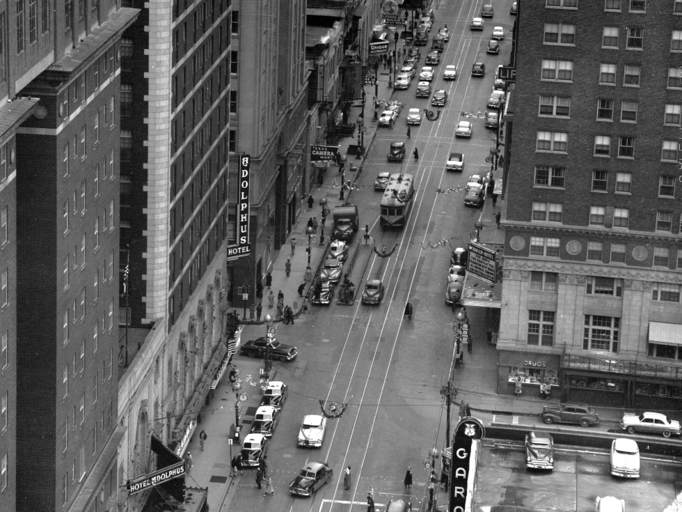 The Adolphus hotel in late 1940s or early 1950s