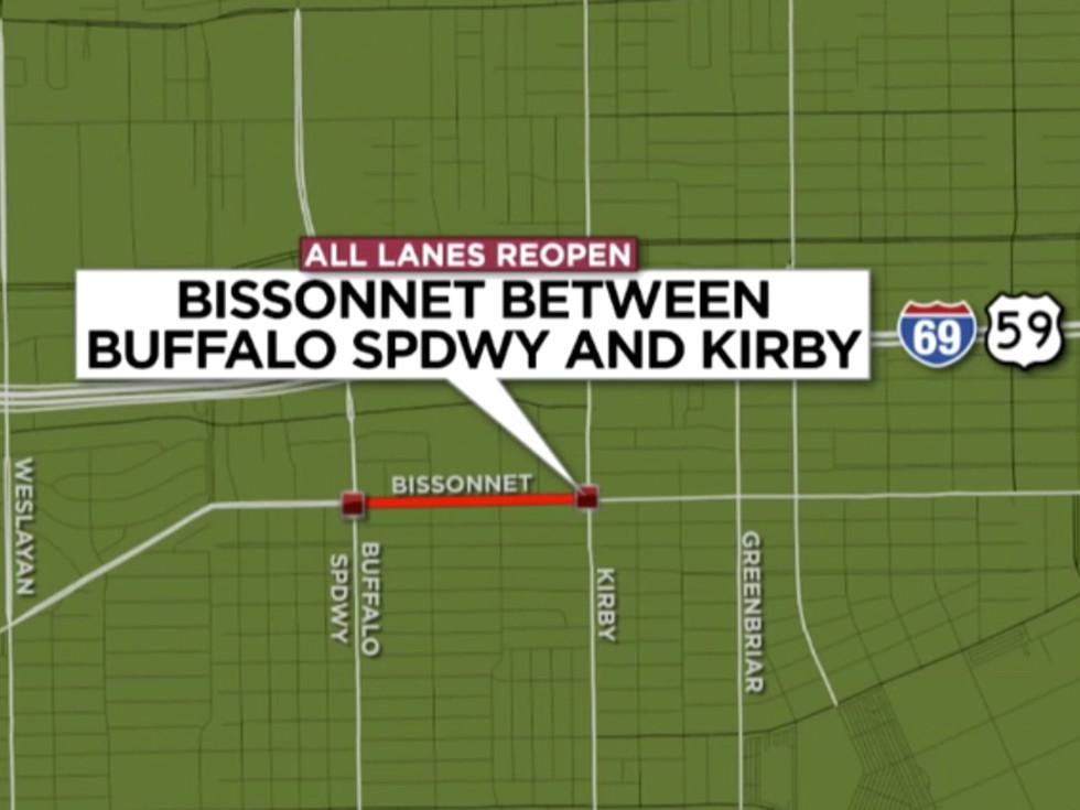 Bissonnet Buffalo Speedway contruction map