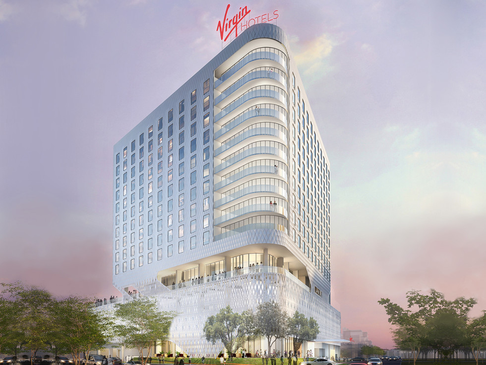 Architectural rendering of Virgin Hotel Dallas