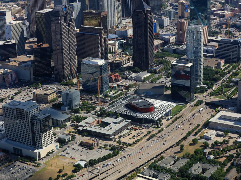 Dallas Arts District aerial