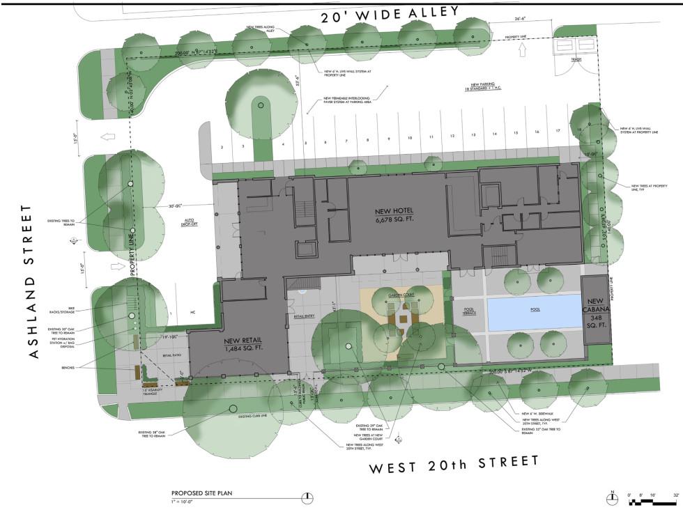 Maison Robert Heights hotel site plan