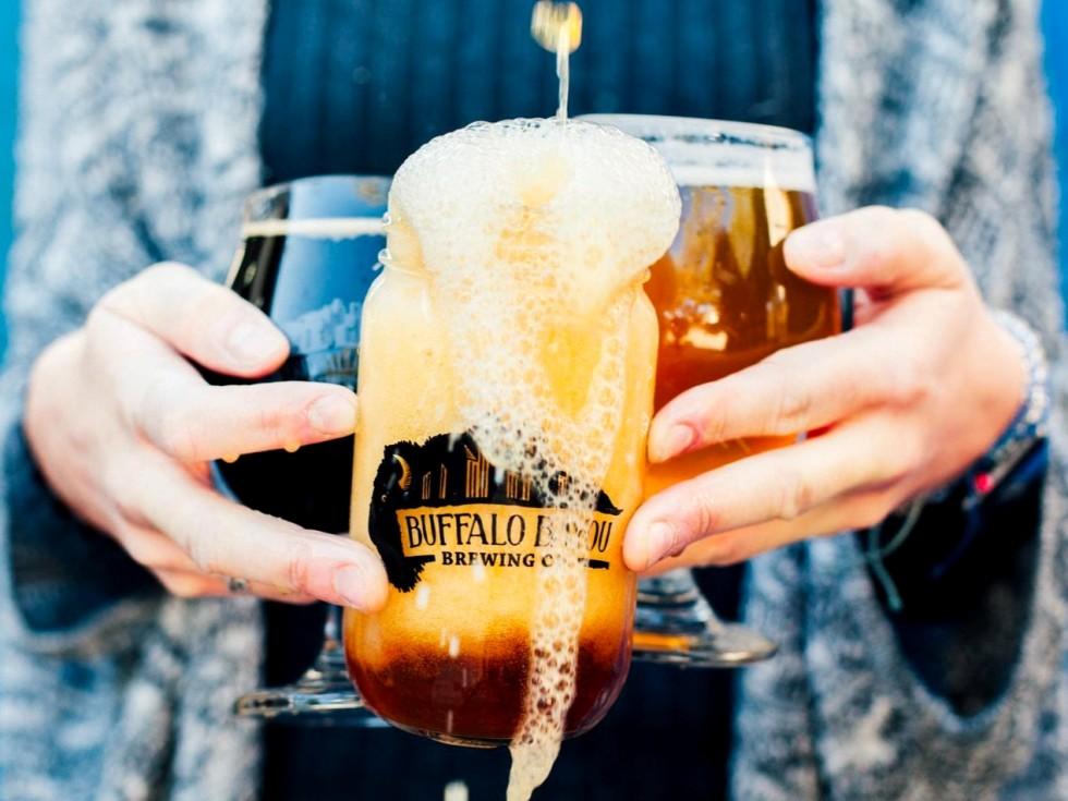 Buffalo Bayou Brewing Company can glass