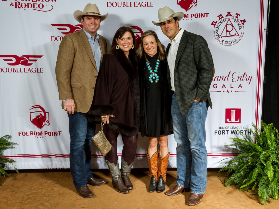 Fort Worth Stock Show Grand Entry Gala Troy Robertson, Amber Robertson, Katie Howard, Stephen Howard