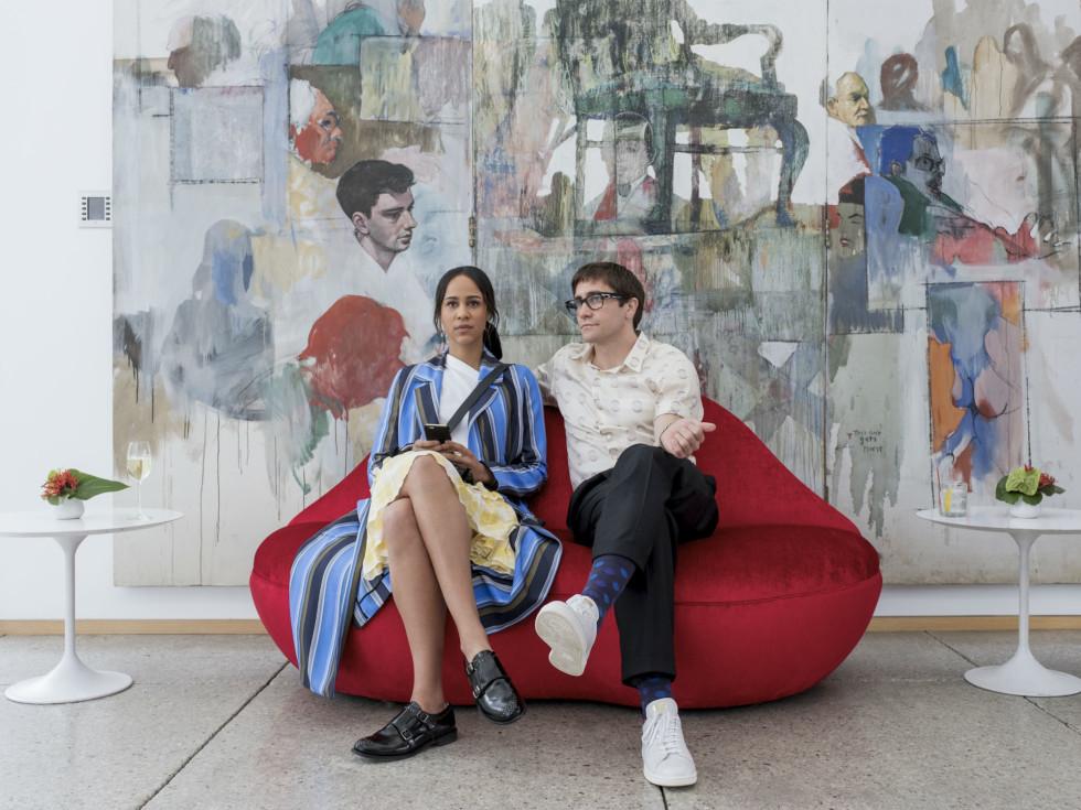 Zawe Ashton and Jake Gyllenhaal in Velvet Buzzsaw