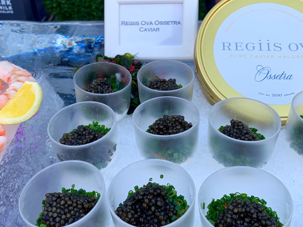 Valobra grand opening party caviar
