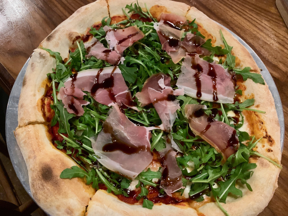 Hyde Park Wood Fired Kitchen prosciutto pizza