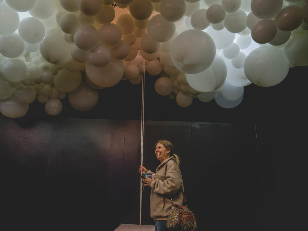 Hopscotch Light and Sound Thunder and Lightning the Balloon Collective Emily Pratt