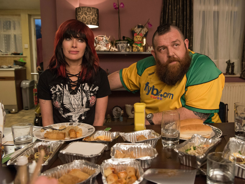 Lena Headey and Nick Frost in Fighting with My Family