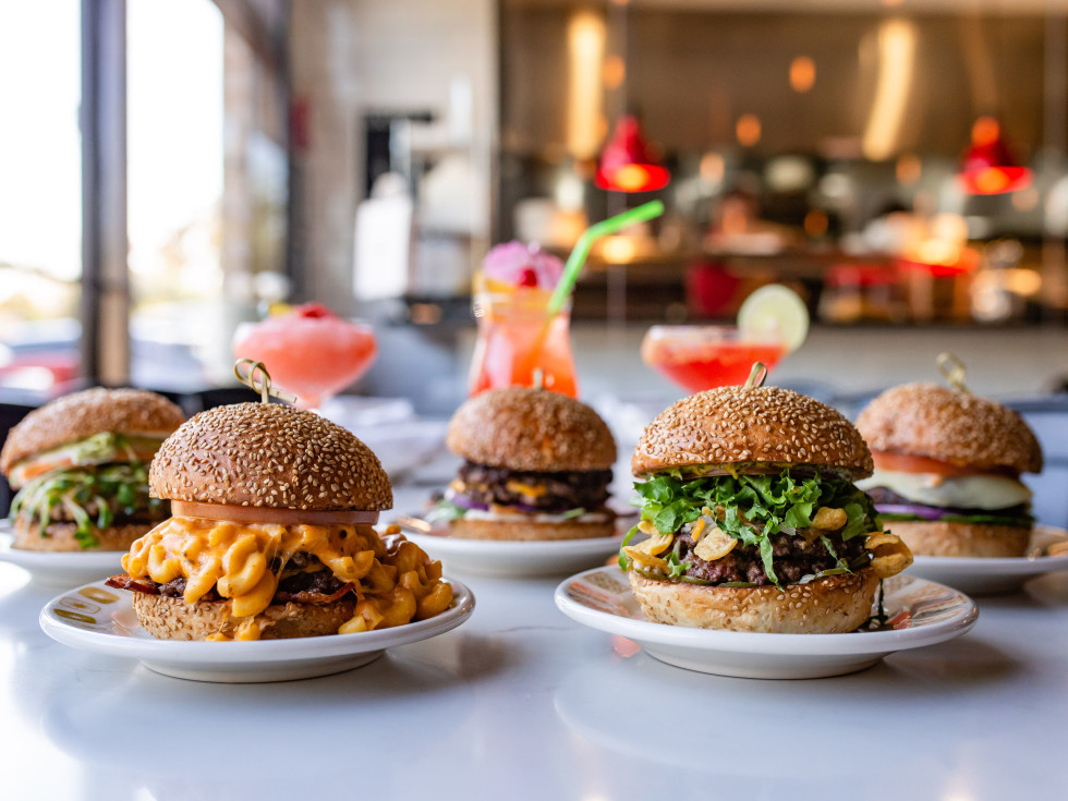 BCK Kitchen & Cocktail Adventures burger options