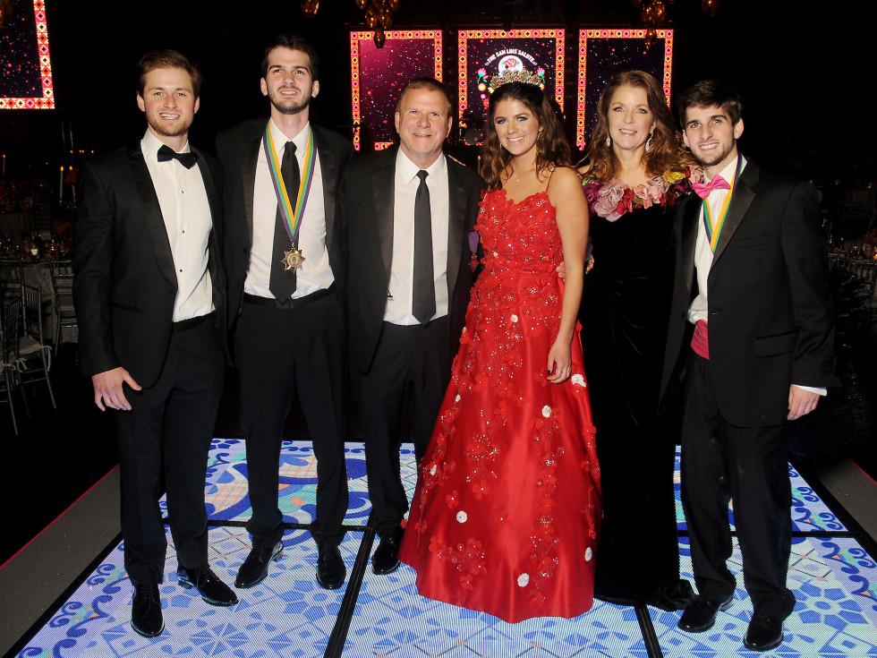 Mardi Gras San Luis Usher 2019 Patrick, Michael, Tilman, Blayne, Paige and Blake Fertitta