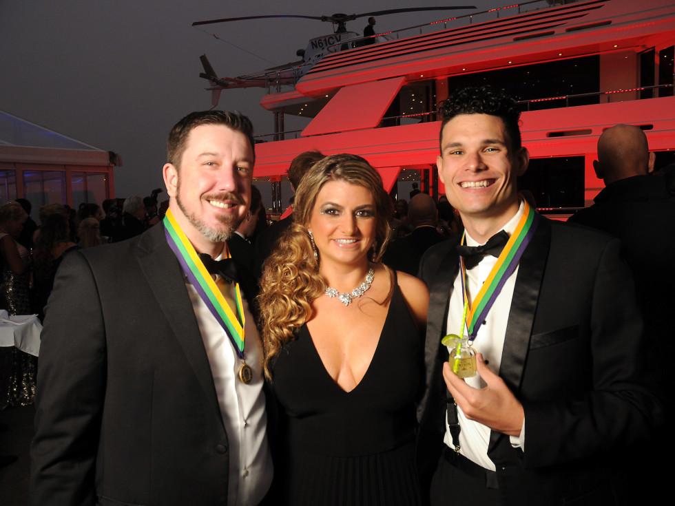 Mardi Gras San Luis Gala 2019 Usher Josh Woods, Kelli Fertitta Woods and Anthony Nichols