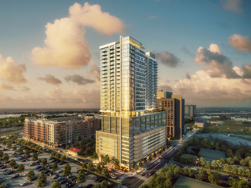 The Quincy high-rise rendering rainey street