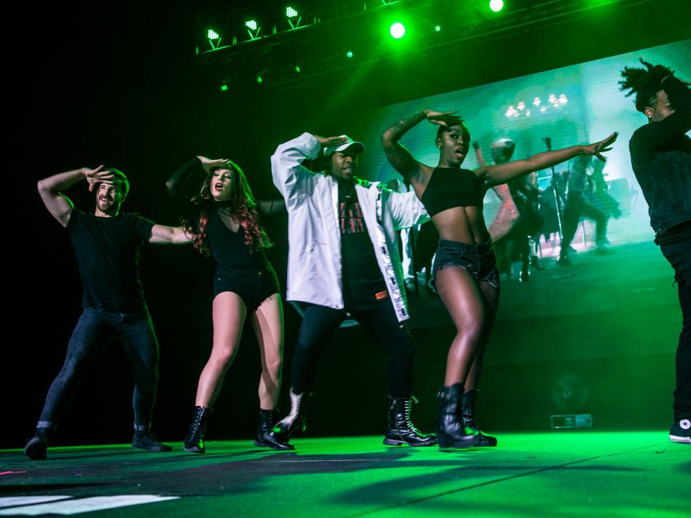Todrick Hall and backup dancers
