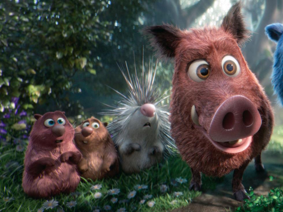 Cooper (Ken Jeong), Gus (Kenan Thompson), Steve (John Oliver), and Greta (Mila Kunis) in Wonder Park