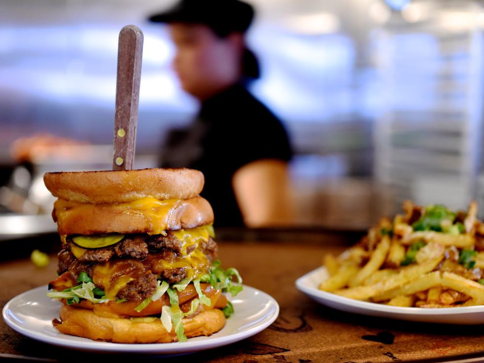 Bernie's Burger Bus Detention burger