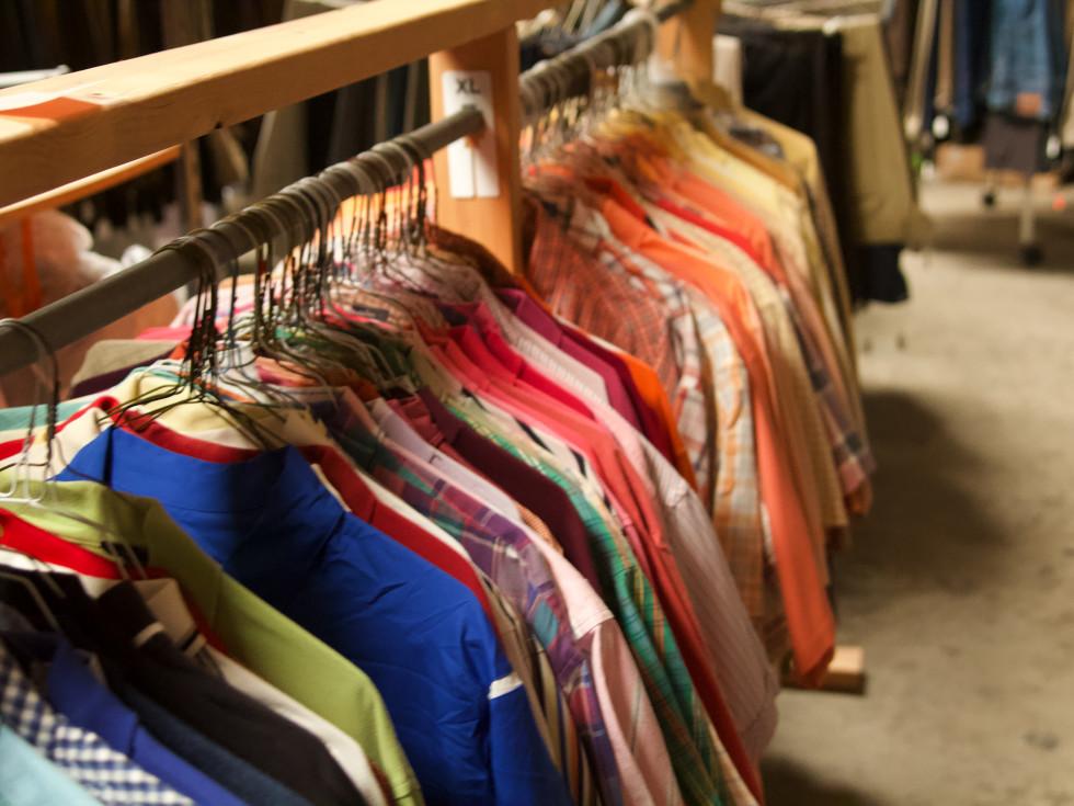 men's shirts, closet, One Man's Treasure