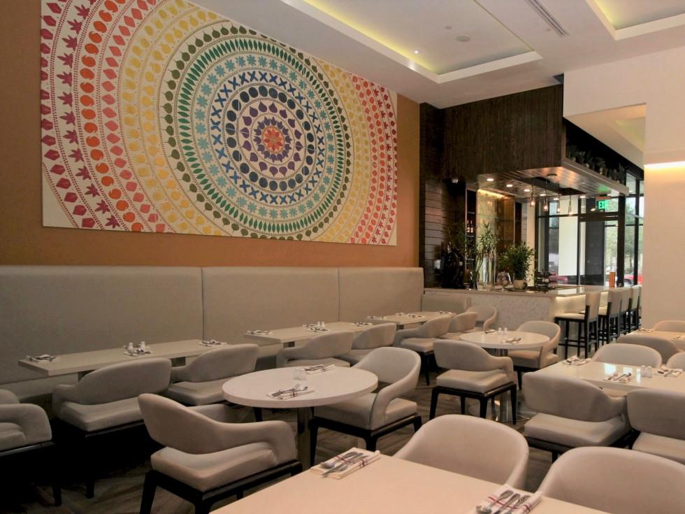 Verandah Progressive Indian Restaurant dining room interior