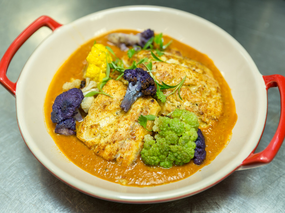 Urban Harvest Sunday Supper 2019 Kiran Verma curry red fish