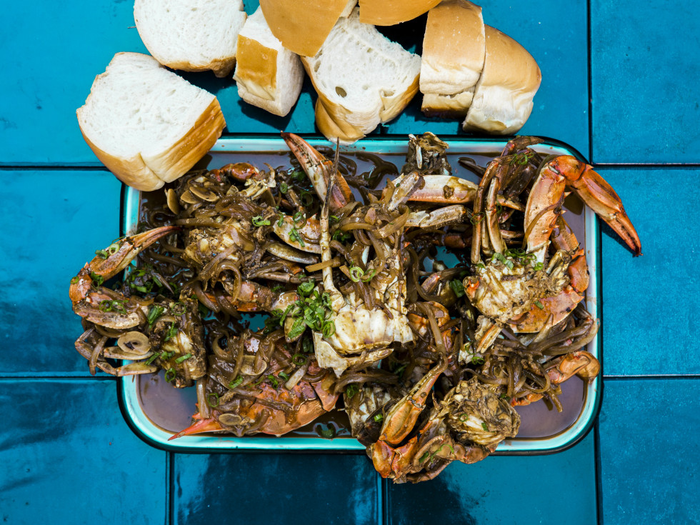 Chris Shepherd barbecue blue crab