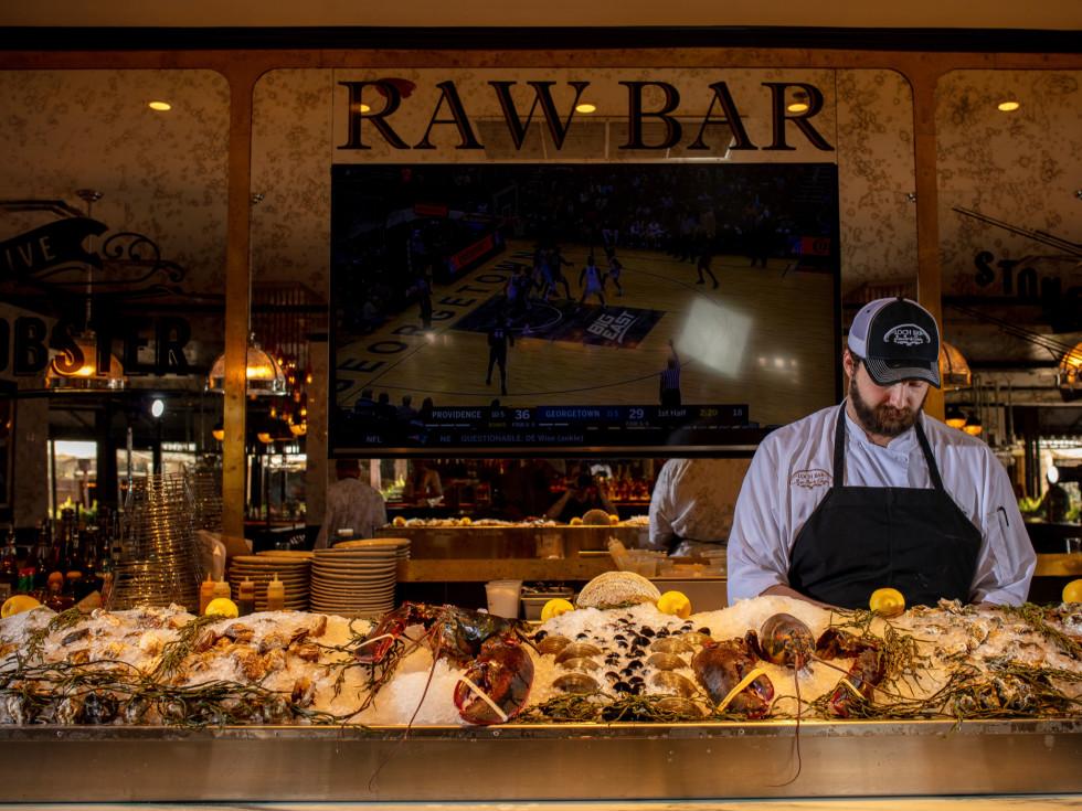 Loch Bar raw bar interior