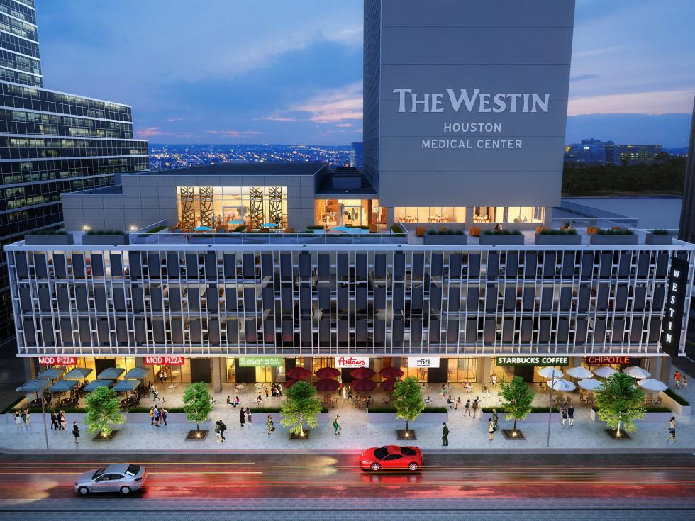 Medical Towers Westin Hotel rendering