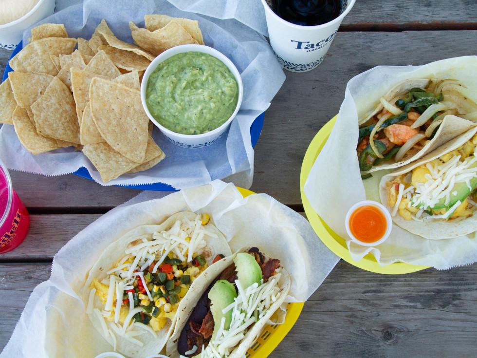 Tacodeli overhead tacos guacamole