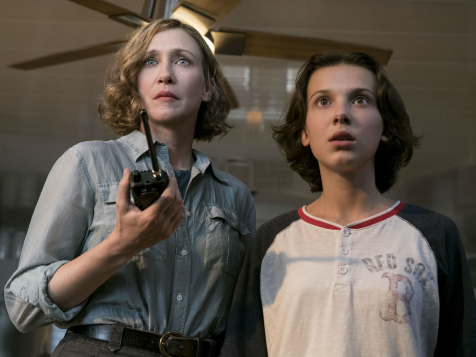 Vera Farmiga and Millie Bobby Brown in Godzilla: King of the Monsters