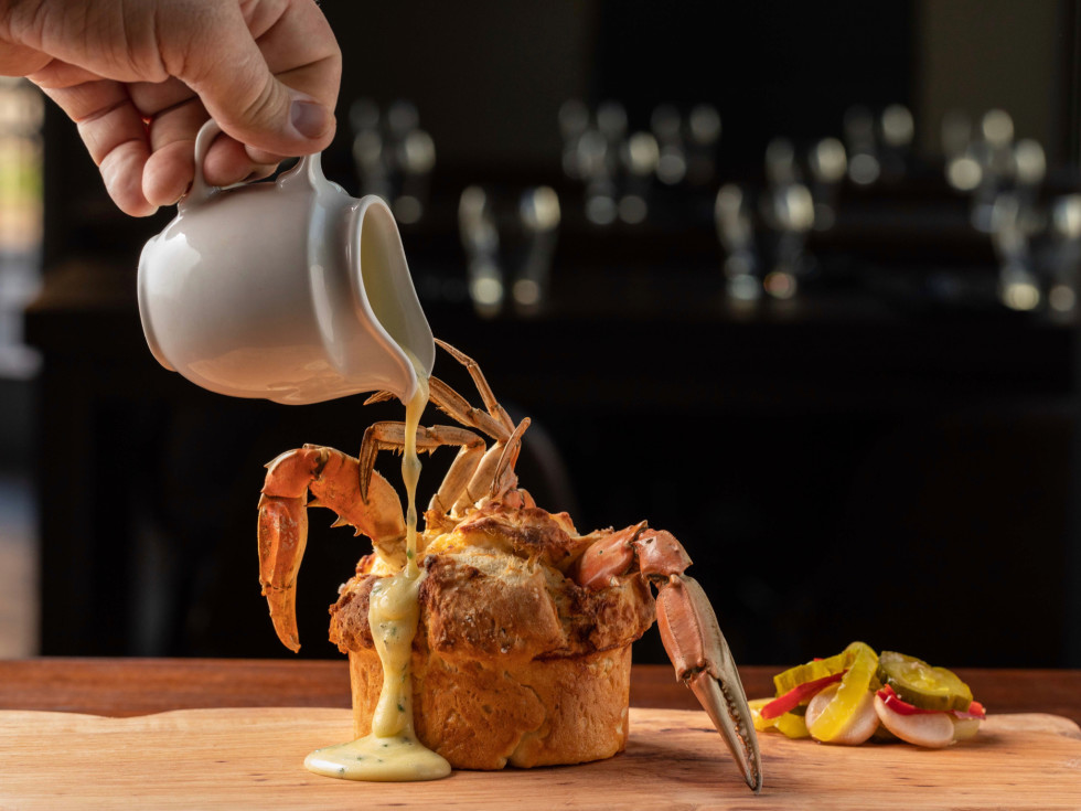 Reef Bryan Caswell crab fat and dough