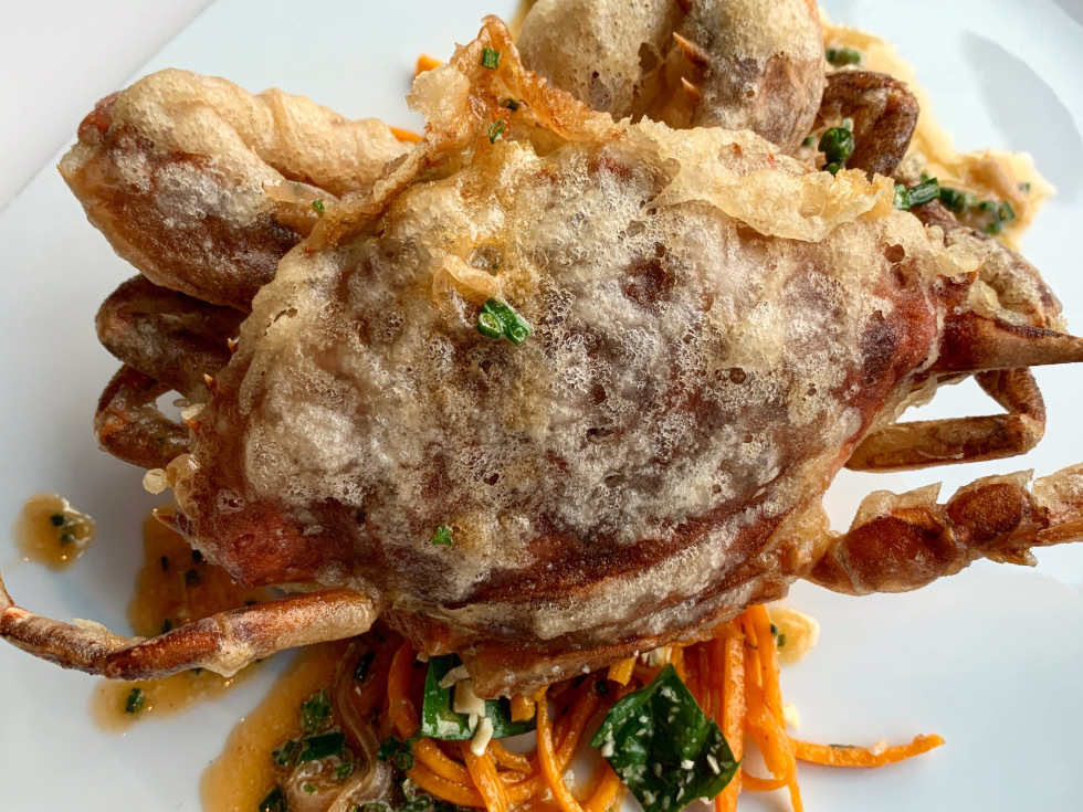 Reef Bryan Caswell tempura soft shell crab