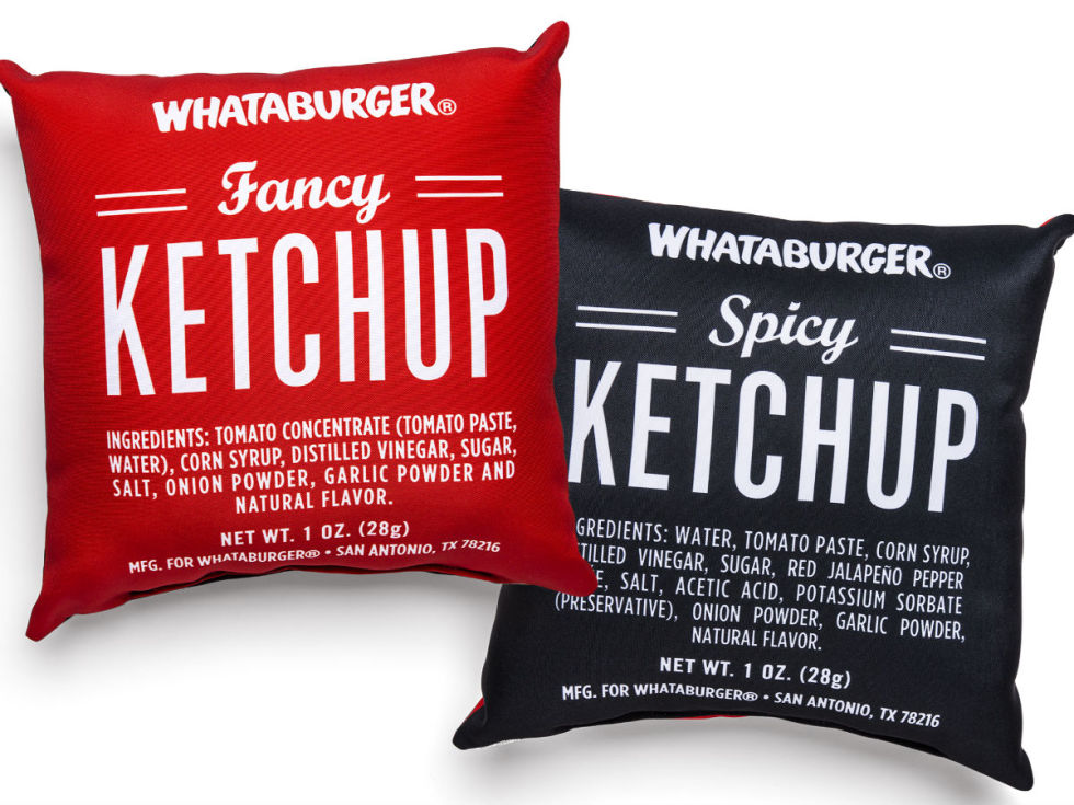 Whataburger pillows