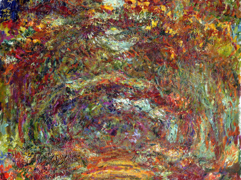Monet,  Path  Under The Rose Arches