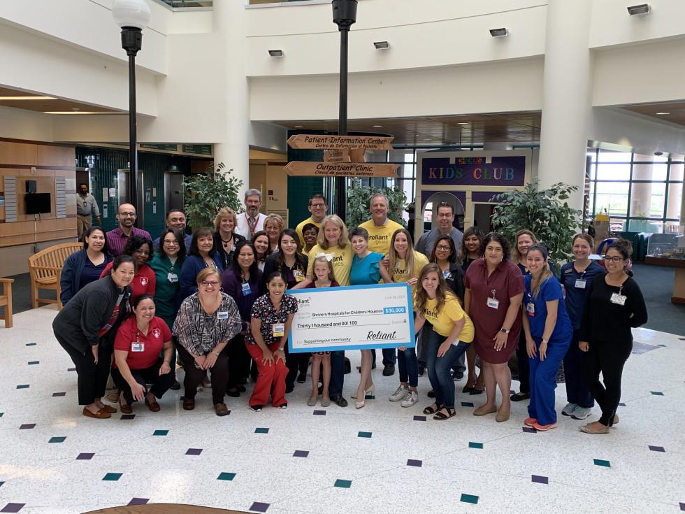 Reliant Gives 2019 Shriners Hospital