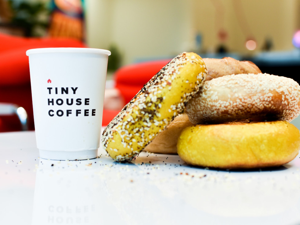 Rosen's bagels and Tiny House Coffee
