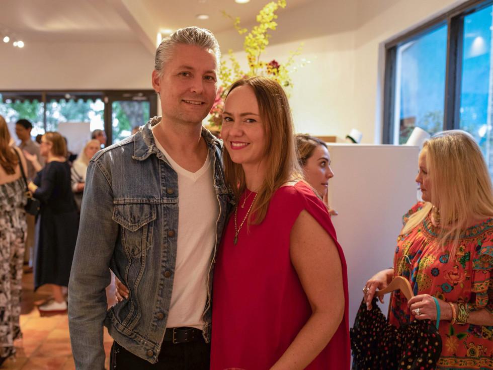 MOSS opening Masha Poloskova and husband