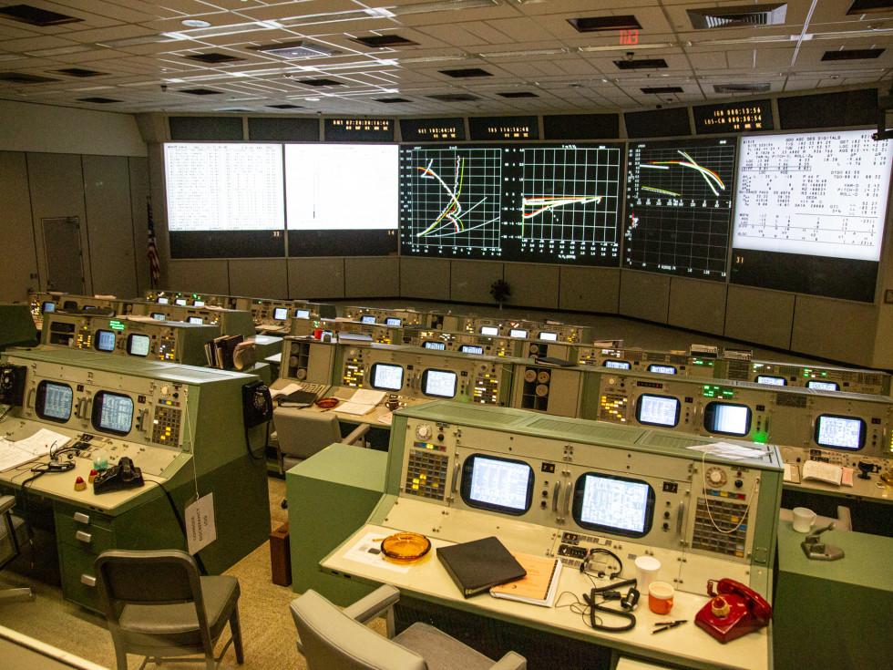 Restored Apollo Mission Control Center