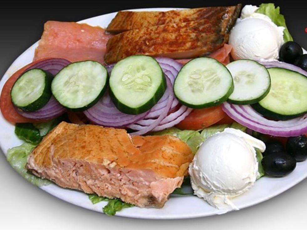 New York Deli and Coffee Shop fish plate