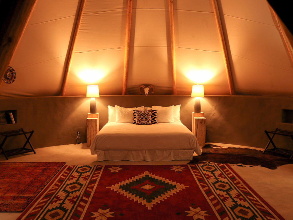 Basecamp Terlingua bubble tipi tent West Texas