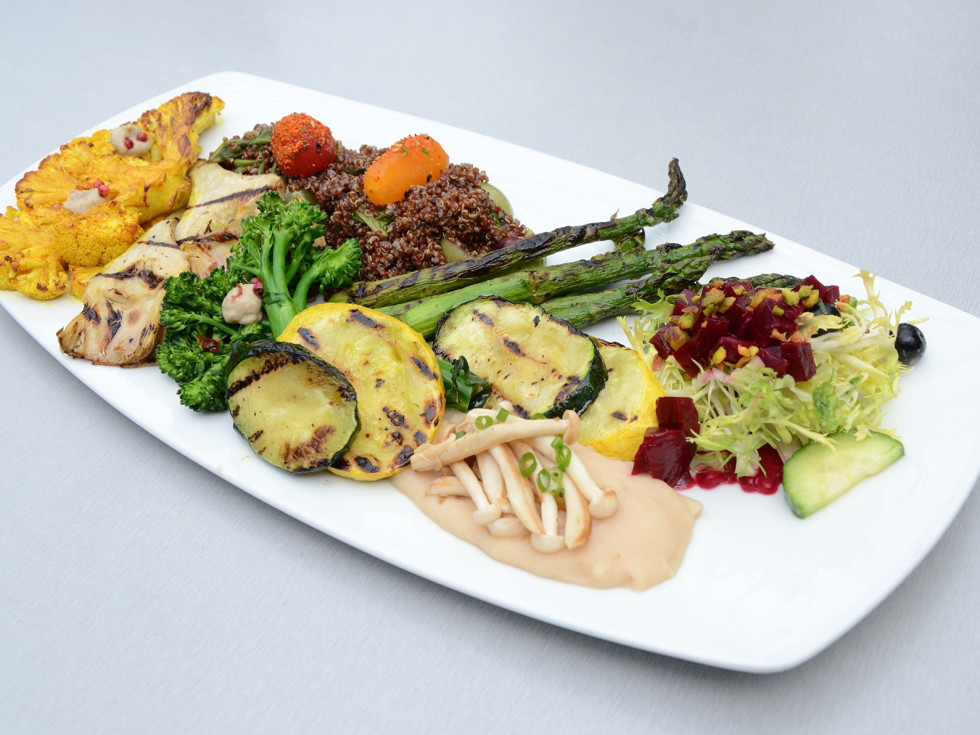 Bliss San Antonio vegan platter